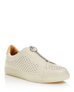 Pairs in Paris Women's Montsour Leather Zip Sneakers - 100% Exclusive