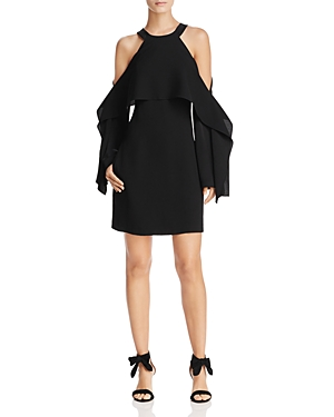Bcbgmaxazria Tristyn Cold-Shoulder Cape Dress