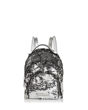 Kendall And Kylie Sloane Sequin Mini Backpack, Silver/Silver