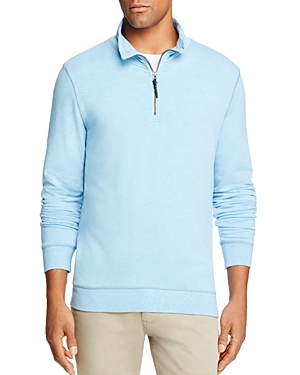 Surfsidesupply Brushback Half-Zip Sweatshirt