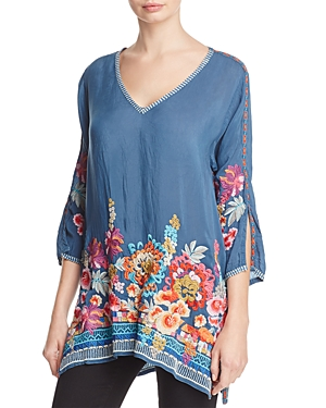 Johnny Was Araxi Floral Embroidered Tunic