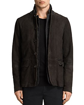 ALLSAINTS - Survey Regular Fit Leather Blazer