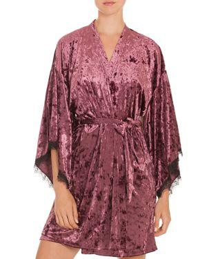 Midnight Bakery Crushed Velvet Kimono