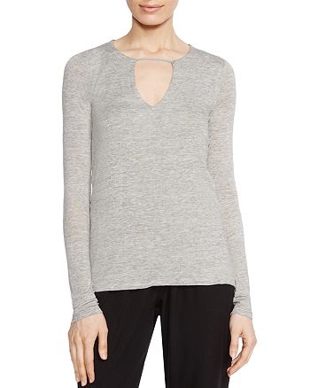 HALSTON HERITAGE - Notch-Neck Top