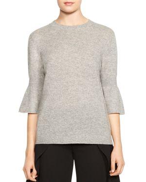 Halston Heritage Merino Wool & Cashmere Bell-Sleeve Sweater
