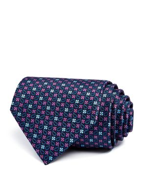 The Men's Store at Bloomingdale's Floral Grid Classic Tie - 100% Exclusive thumbnail