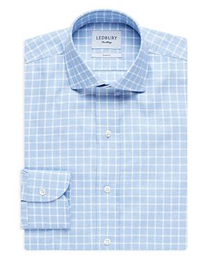 Ledbury Windowpane Grid Slim Fit Dress Shirt