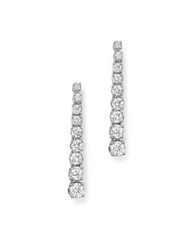 Bloomingdale's - Diamond Linear Drop Earrings in 14K White Gold, 1.0 ct. t.w. - 100% Exclusive