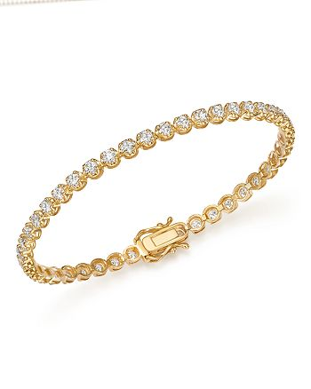 Bloomingdale's - Diamond Tennis Bracelet in 14K Yellow Gold, 3.50 ct. t.w. - 100% Exclusive