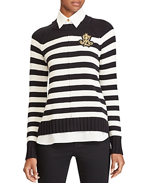 Lauren Ralph Lauren Layered Look Stripe Sweater