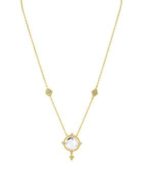 """Freida Rothman - Mirror Stone Necklace, 15"""""""
