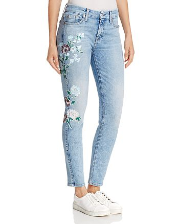 7 For All Mankind - The Ankle Skinny in Radiant Wythe W Floral