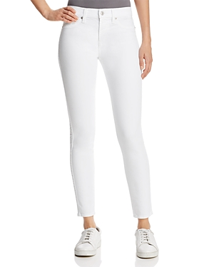 7 For All Mankind The Ankle Skinny Jeans in Clean White