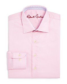 Robert Graham - Boys' Solid Dress Shirt - Big Kid