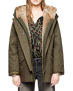 Zadig & Voltaire Kinian Deluxe Fur-Lined Parka