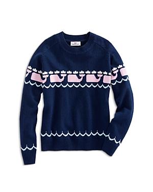 Vineyard Vines Girls Intarsia WhalePrint Sweater  Big Kid