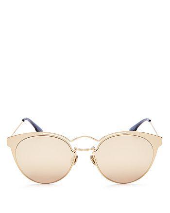Dior - Women's Nebula Mirrored Round Sunglasses, 54mm