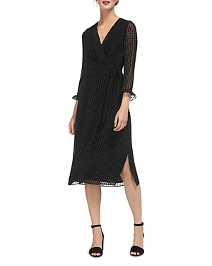 Whistles Venus Velvet Spot Wrap Dress