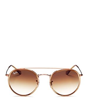 Ray-Ban Brow Bar Round Sunglasses, 51mm