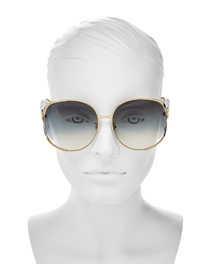 29ae02984201 Gucci Women's Oversized Round Sunglasses, 63mm | Bloomingdale's