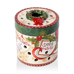 Villeroy & Boch Christmas Toys Small Round Gift Box Votive Holder, Letter to Santa