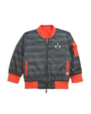 Sovereign Code Boys' Reversible Striped Monster Bomber Jacket - Baby