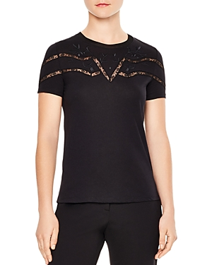 Sandro Lilou Lace-Inset Tee