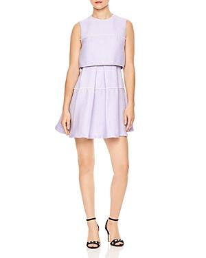 Sandro Pearl Tiered Overlay Mini Dress