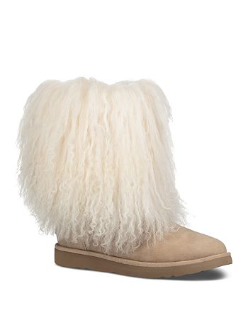 0f6c4d78cb5 UGG® Women's Lida Suede & Curly Sheepskin Booties | Bloomingdale's