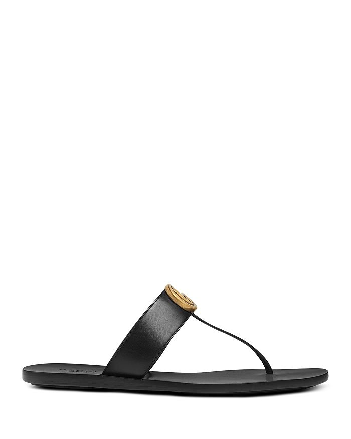 c830757a42c2f Gucci - Women s Marmont Leather Thong Sandals
