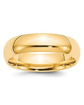 Bloomingdale's - Men's 4mm Half Round Band Ring in 14K Yellow Gold - 100% Exclusive
