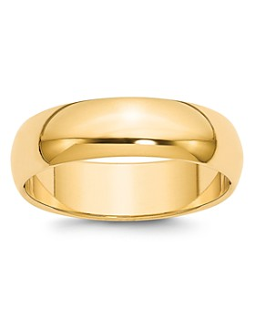 Bloomingdale's - Men's 6mm Half Round Band Ring in 14K Yellow Gold - 100% Exclusive