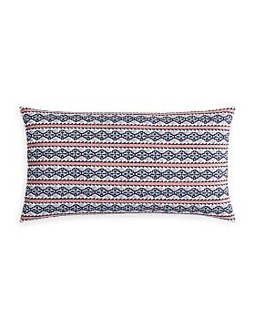 "Sky - Azteca Embroidered Geo Decorative Pillow, 14"" x 26"" - 100% Exclusive"