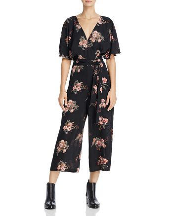 June & Hudson - V-Neck Floral Print Jumpsuit - 100% Exclusive
