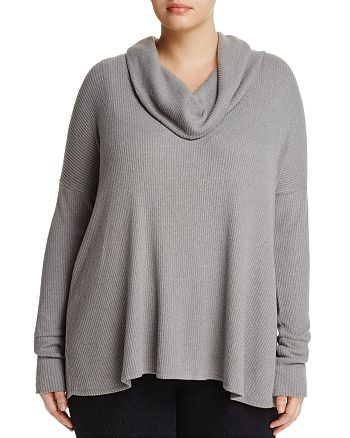 Lucky Brand Plus - Crossover-Back Cowl Neck Sweater