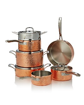 Cuisinart - Hammered Copper Triply 11-Piece Set - 100% Exclusive