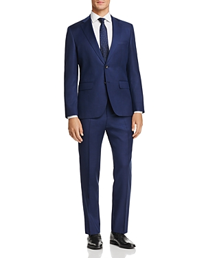 Boss Johnstons/Lenon Regular Fit Textured Solid Suit