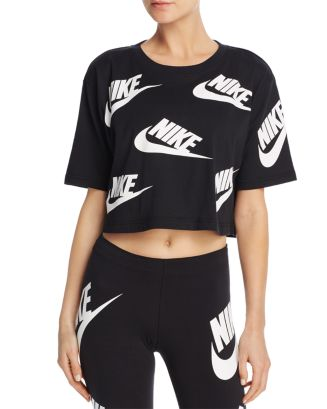 outlet store classic fit in stock Nike Futura Logo Crop Top | Bloomingdale's