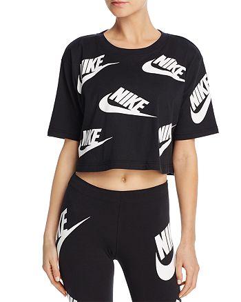 fa78d698f Nike Futura Logo Crop Top | Bloomingdale's