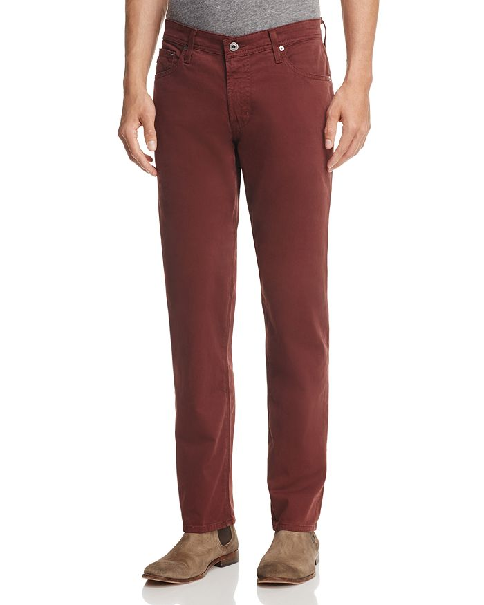 AG - The Graduate Slim Straight Fit Pants in Deep Mahogany