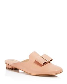 Salvatore Ferragamo - Women's Sciacca Leather Floral Heel Mules