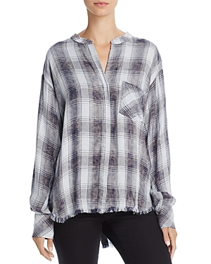 Bella Dahl Back-Button Fringed-Hem Shirt