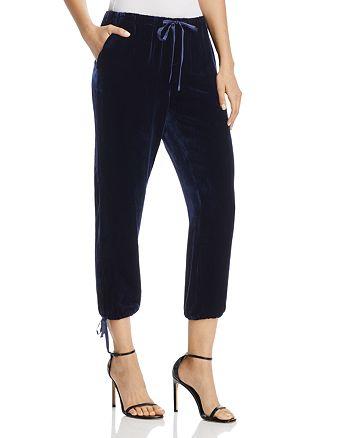 Joie - Dyre Velvet Drawstring Jogger Pants