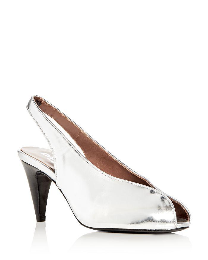 Carel - Women's Saturne Metallic Slingback Peep Toe Pumps
