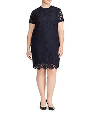 Lauren Ralph Lauren Plus Short Sleeve Lace Dress