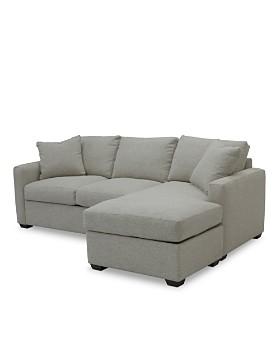 Bloomingdale's Artisan Collection - Noah Sleeper Sofa with Storage Ottoman