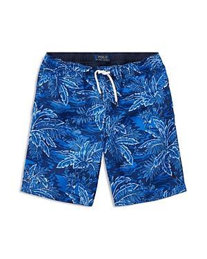 Ralph Lauren Childrenswear Boys TropicalPrint Swim Trunks  Big Kid