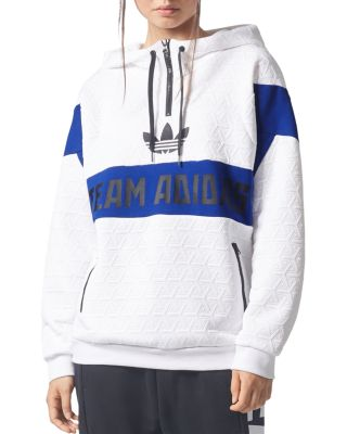 PANEL PULLOVER HOODIE - WHITE
