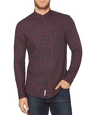 Original Penguin Brushed Flannel Plaid Button-Down Shirt