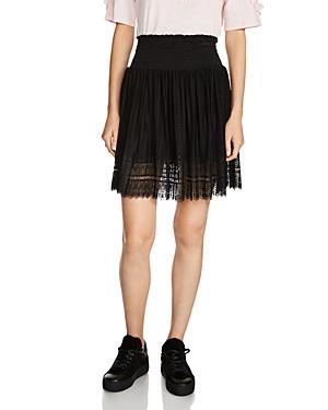 Maje Jaelys Mixed-Lace Skirt